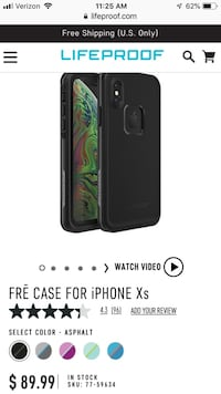 New Lifeproof Fre case for IPhone Xs Somerset, 15501