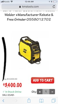 black and yellow Karcher pressure washer Calgary, T3C 0K7