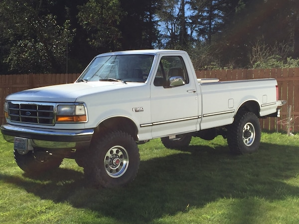used 95 ford f 350 4x4 camper special for sale in bremerton letgo