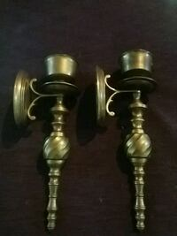 brass wall candle holders Columbus, 43207