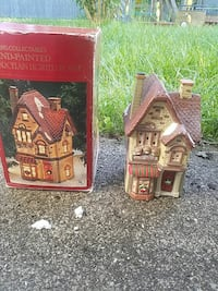 brown and beige ceramic house miniature with box Colonie, 12205