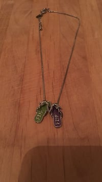 silver-colored green and purple flip-flops necklace Charleston, 29407