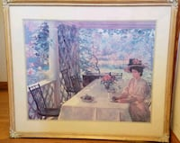 """Nicely Framed Print, """"On the Porch"""" by Chadwick Chesapeake, 23322"""