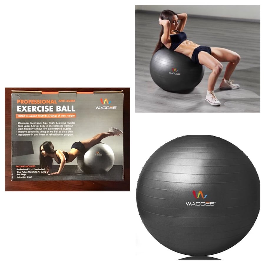 Wacces Stability and Yoga Ball for Fitness, Balance & Gym Workouts.