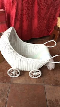 white wicker doll carriage Laurel, 20707