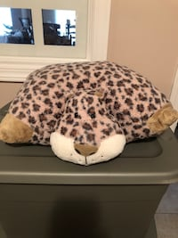 Transformable leopard animal pillow