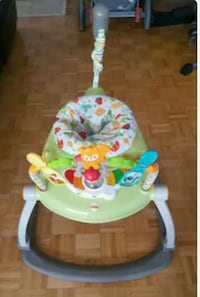 baby's green and white walker(Jumperoo-No wheels)