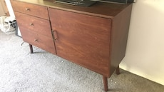 Brown wooden cabinet with drawer chest