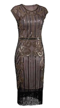 Dress with fringe/ Flapper Dress 1920's