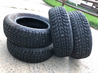 WinterForce tires 215/60R16 snow  Montgomery Village, 20886