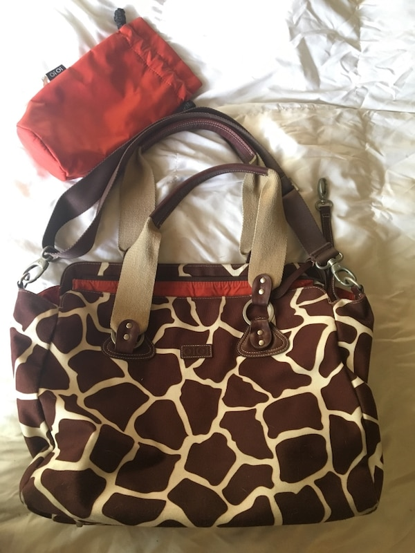 f482c578ed63b Used OiOi Giraffe Diaper Bag with insulated bottle bag for sale in Chandler  - letgo