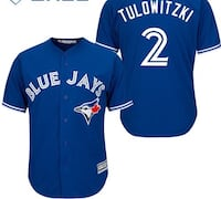 Blue and white Blue Jays jersey
