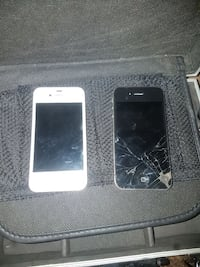 two white and black iPhone 4's