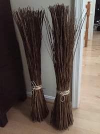 Pair of espresso-colored reed floor decor  Woodbridge, 22193