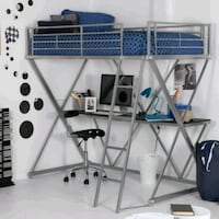 Full size metal loft bed with desk! Minneapolis, 55413