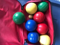 Plastic Bocce ball Set in carry bag Surrey, V4N 5X9