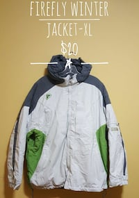 XL white, grey, and green firefly winter jacket Calgary, T3G 3R2