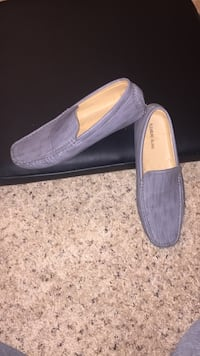 pair of grey suede loafers Quincy, 02169
