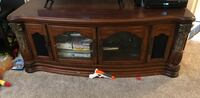 brown wooden framed glass cabinet Rancho Cucamonga, 91730