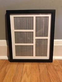 "Black collage picture frame, 5 4x6"" openings"