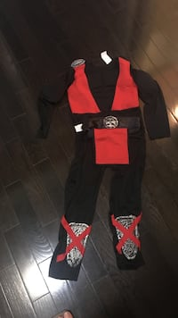 toddler's red and black Mortal Kombat Ermac costume