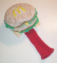 McDonalds Big Mac Golf Driver Head Cover Rare