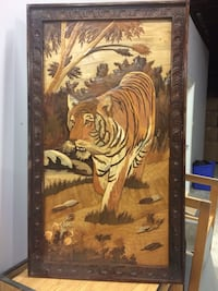 Wood in layed wall hanging - tiger  Pickering, L1V 6R1