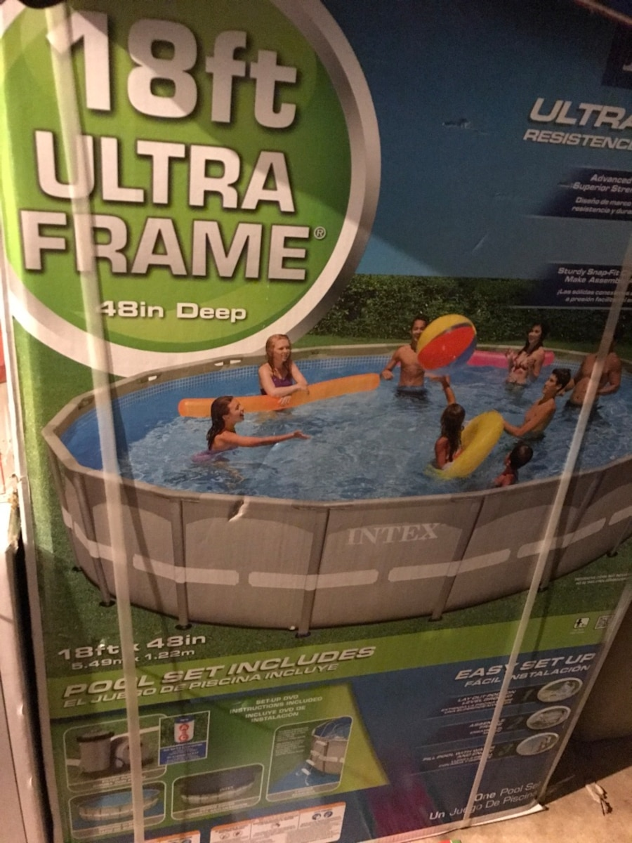 Used New 18ft Ultra Frame above ground pool box in Maitland