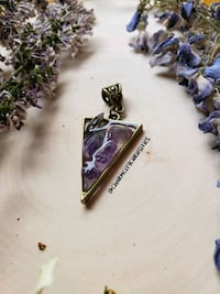 Amethyst and resin pendant
