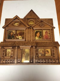 Vintage wooden house photo collage