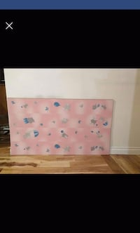 white and pink floral textile Laval, H7G 3E3
