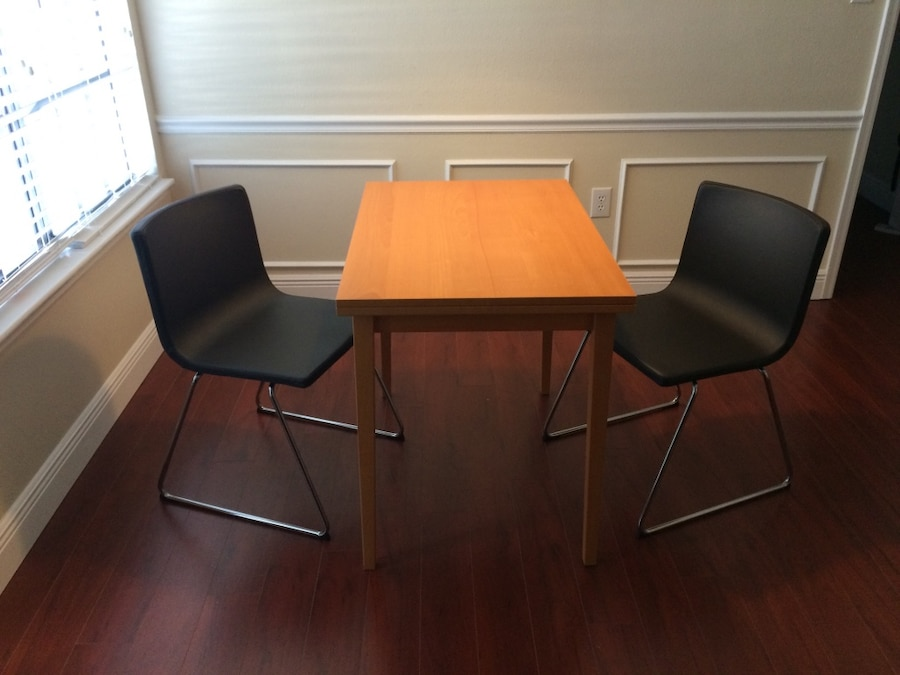 Used IKEA Bernhard Chairs (2) And IKEA Dining Table For Sale In Ocala