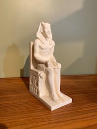Egyptian statue book end Wilmot, N3A