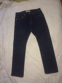 black denim straight-cut jeans Toronto, M9B 1A9