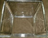 """4"""" Clear Glass Small Square Angled Candy Dish Nut  Ontario, 91764"""
