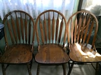 Three old solid wood chairs Richmond, V7E 4C7