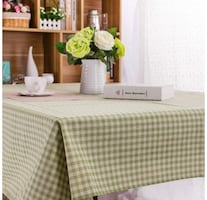 Brand New Table Cloth Green Plaid