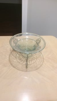 Clear glass footed bowl