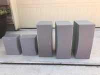five grey home theater system