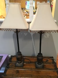 "Two table lamps, about 32"" tall"