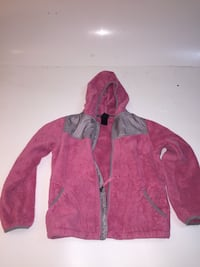 Pink fleece Northface jacket