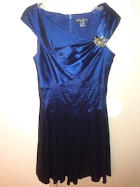 blue scoop-neck cap-sleeved dress STAFFORD
