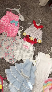Baby's assorted clothes 27 items baby shoes and a blanket Peyton, 80831