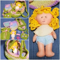 Handmade mini dolly & dolly bassinett/accessories Airdrie, T4B 0E4