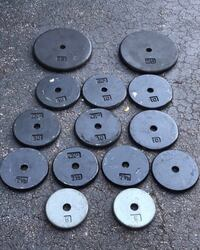 STANDARD SET OF PANCAKE PLATES  TWO. 25's_________SIX 10's FOUR 7.5's________TWO 5's Deerfield Beach, 33442