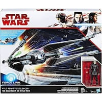 new Star Wars The Last Jedi Force Link Kylo Rens TIE Silencer Silver Spring