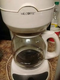 white and black Mr.Coffee coffeemaker Endicott, 13760