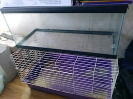 Rabbit cage and fish tank / reptile cage