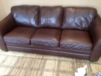 3 pieces real leather couches set  Markham