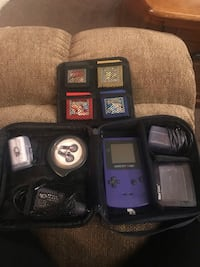 Game Boy Colour, Games, and Travel Case 593 km